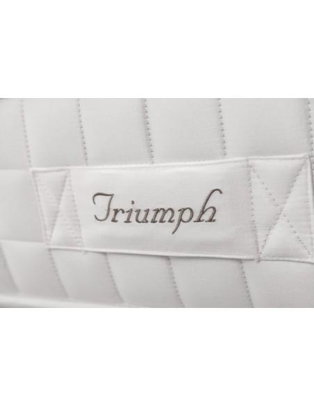 Detalle lateral del colchón Triumph de Dunlopillo.