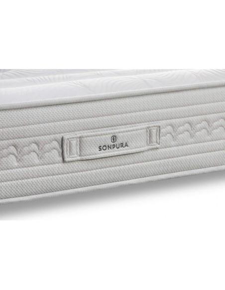 Detalle de la platabanda del colchón Indra V4 de Sonpura.