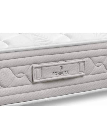 Detalle de la platabanda del colchón Prisma V5 de Sonpura.