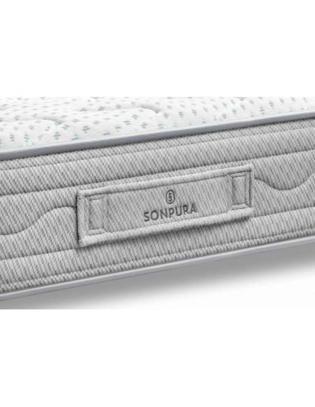 Detalle de la platabanda del colchón Play V7   de Sonpura.