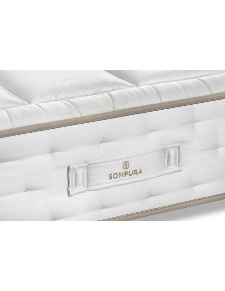 Detalle de la platabanda del colchón Suite V2 de Sonpura