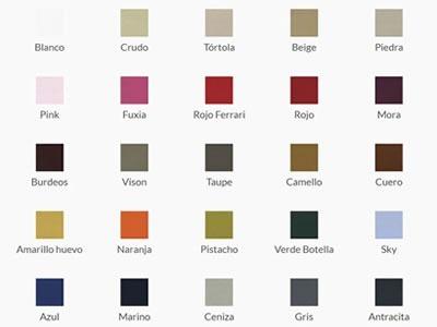 Colores Canapés de Bedline